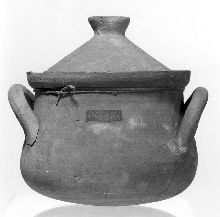 Pot with handles and lid